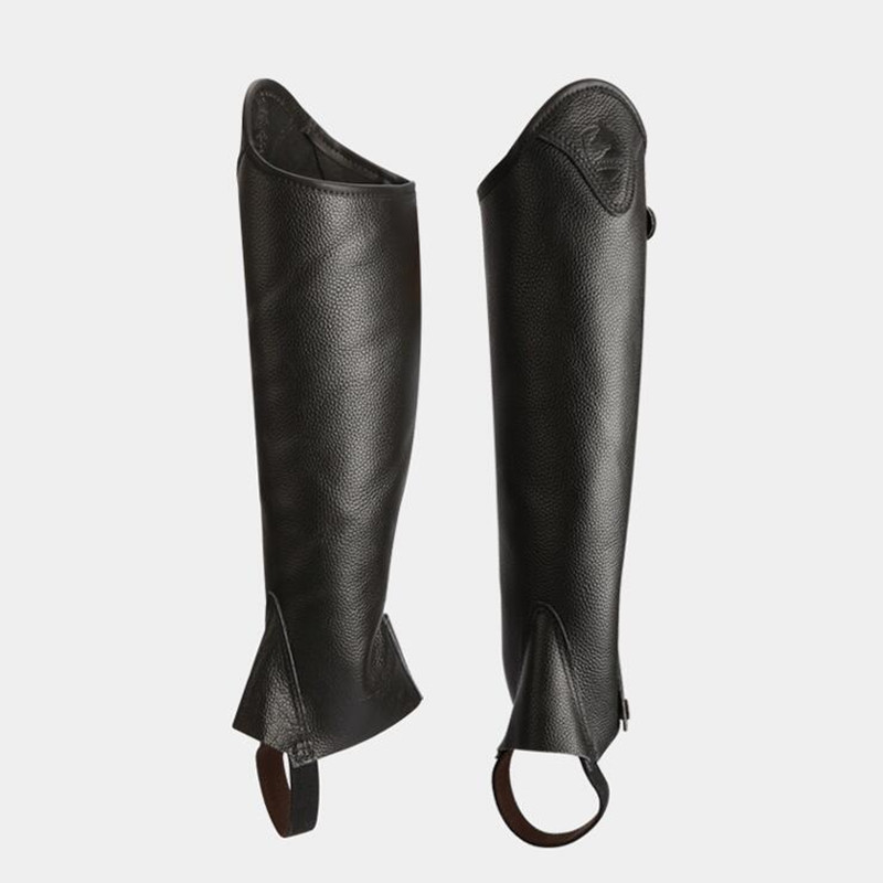 half-chaps  Leather half-chaps for men and women, comfortable and breathable Knight equipment  Protect knight leg