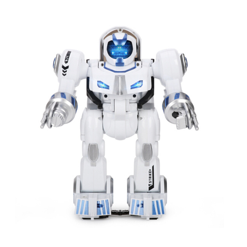 Music Can Remote Control Robot CHILDREN'S Toy Transformation Cops Boy Gift Q1