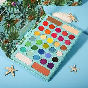 Image 3 - Docolor Nude Ombretto Tavolozze 34 colori Matte Shimmer Glitter Eyeshadow Trucco Tavolozze In Polvere Impermeabile Pigmentato Cosmetici