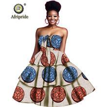 2019 Африканский принт платья для женщин бальное платье без