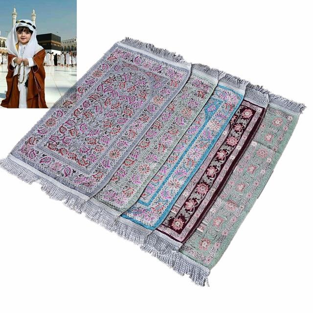Muslim chirldren prayer rug baby size 35×65CM kids gift prayer mat