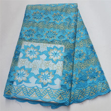 African Embroidered Tulle Lace Fabric High Quality Nigerian Bridal Lace Fabrics French Net Lace For Evening Party      PFN003