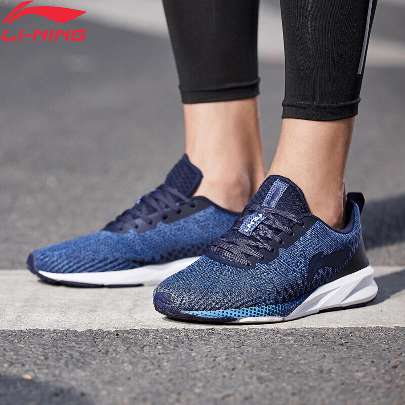 Li-Ning Men COLOR ZONE Cushion Running Shoes Breathable Mono Yarn LiNing Li Ning Light Sport Shoes Sneakers ARHN101 XYP720