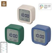 Youpin reloj despertador Youpin Cleargrass con Bluetooth, Control inteligente de temperatura, humedad, pantalla LCD, luz nocturna ajustable