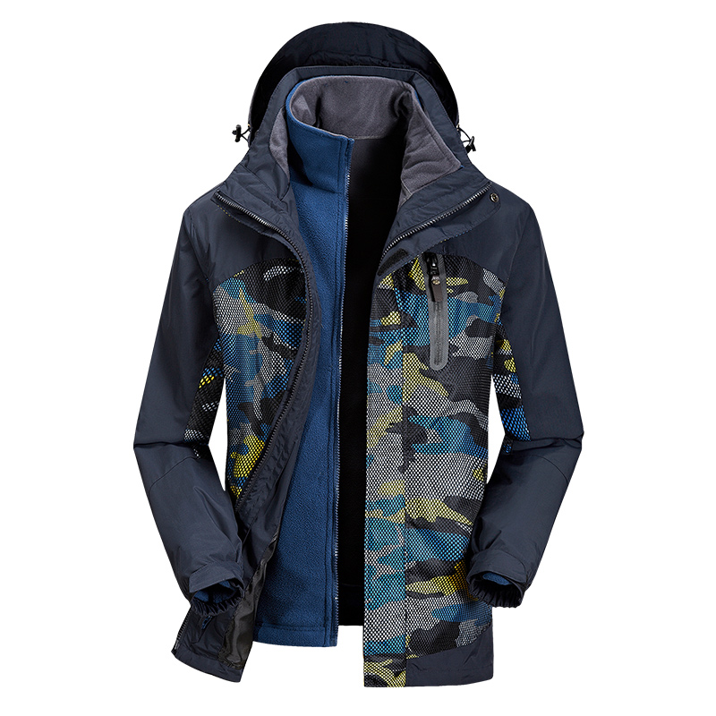 Mens Jackets And Coats Winter Warm 3-in-1 Systems Jacket Men Mountain Clothes Soft Shell Fleece Outdoors Sportting Jacket XXXXL