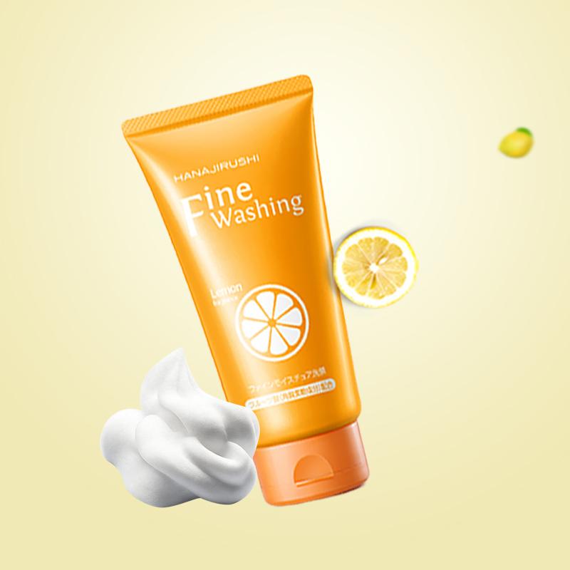 HANAJIRUSHI Vitamin C Facial Cleanser Limpiador Whitening Brightening Face Wash Skin Care Deep Cleansing Pores Care 120g
