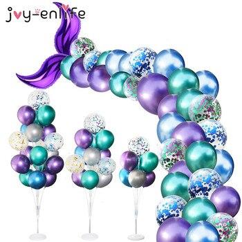 Mermaid Party Supplies Balloon Arch Set Tail Ballons Little Decoration Wedding Girl Birthday