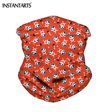 INSTANTARTS Red Black Punk Skull Design Bandanas Seamless Face Bandana Riding Mask Scarf for Men Bike Hijab Magic Headband(China)
