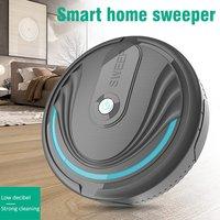 Robot aspirador inteligente para el hogar, aspiradora con succión potente, barrido y limpieza, recargable con apiradora USB automática