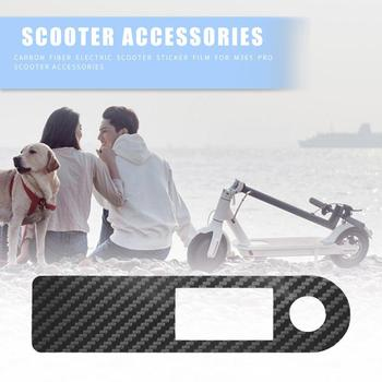 Carbon Fiber PVC Scooters Black Sticker Central Controller Protective Film for Xiaomi M365 Pro Electric Scooter Supplies image