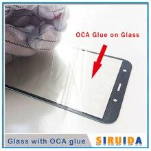 5 adet LCD ön dış ekran cam Lens ile OCA tutkal için Samsung J330 J530 J730 J530F J5Pro J7pro J727 j3 J5 J7 J710 yedek