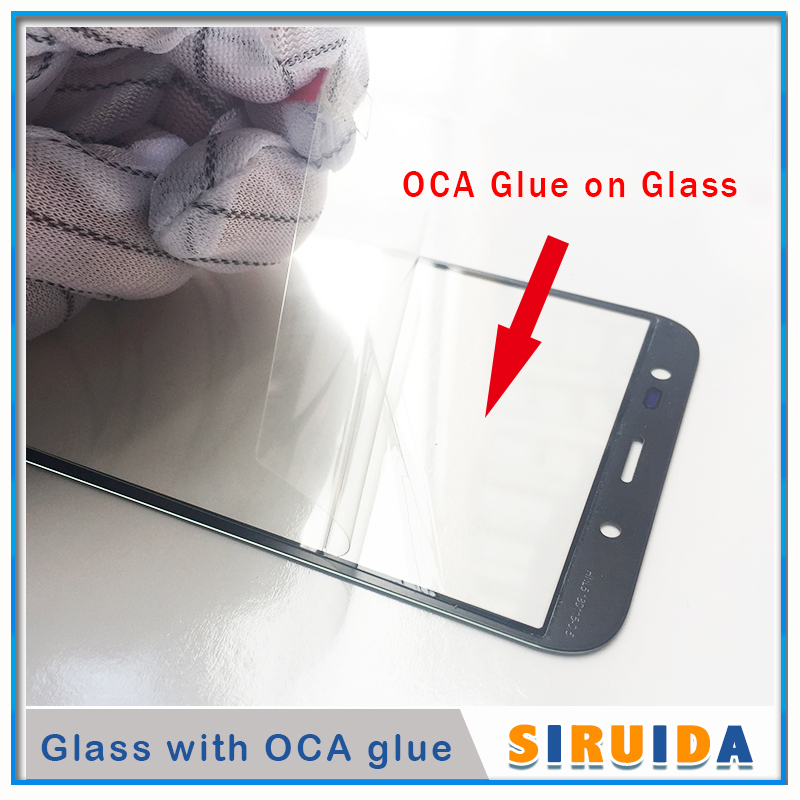5pcs LCD Front Outer Screen Glass Lens With OCA Glue For Samsung J330 J530 J730 J530F J5Pro J7pro J727 J3 J5 J7 J710 ReplacementPhone Screen Protectors   -