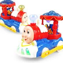 Cartoon Electric Train 3D Light Music Car Railcar Toy Kids Boy Gift