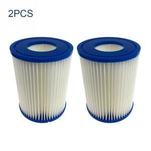 4/2 шт. для Bestway Pump 58094 Сменный фильтрующий картридж для плавательного бассейна с сердечниками Простая установка синий подходящий фильтр-насо...
