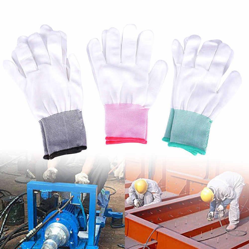 2 Pairs Universale In Nylon Anti-statica di Fabbrica di Lavoro Guanti di Protezione Delle Dita
