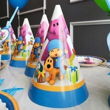 Pocoyo Theme Disposable Tableware Set Cartoon Elly Pato Loula Party Decoration Kids Birthday Supplies