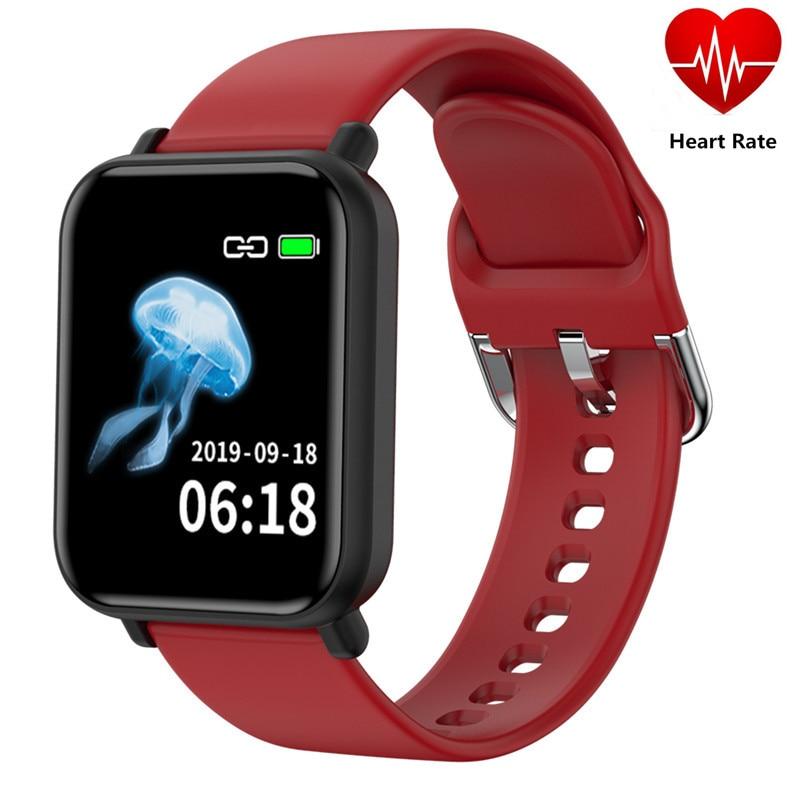 Smart Watch R16 Heart Rate Blood Pressure Bracelet Fitness Tracker Monitor Multi Sports Men Women SMS Call Color Waterproof Band