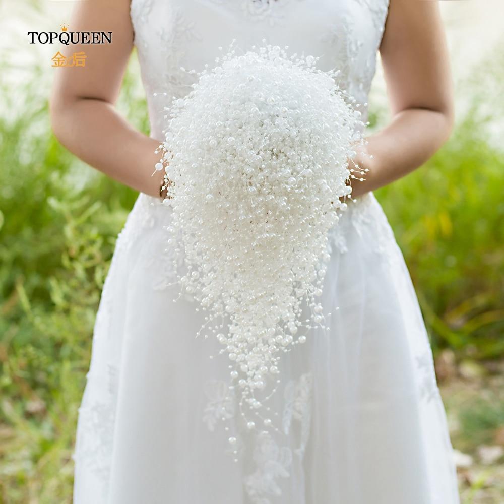 TOPQUEEN F24 Bride Flower Bouquet Wedding Bouquets Bridesmaid Bouquet Wedding Bouquets Bridal Wedding Flowers Bouquet