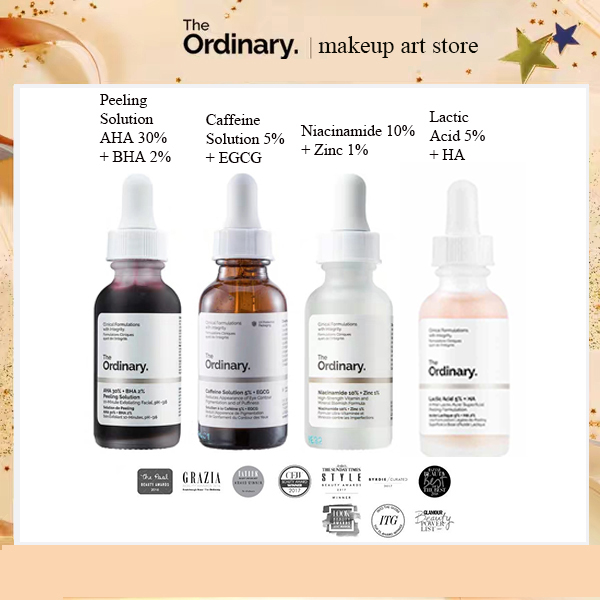 The Ordinary Peeling Solution Theordinary Skin Care Serum AHA 30% + BHA 2% Niacinamide  Caffeine Solution Lactic Acid 5% 10%