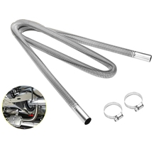 200cm Car Air Parking Heater Exhaust Pipe with 2 Clamps Fuel Tank Exhaust Pipe Hose Tube for crude oil-Heater