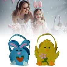 2020 Easter Bunny Bag Bunny Chick Candy Bag Gift Tote Bag for Kids Candies Goodies Handmade Decorations Party Supplies goodies