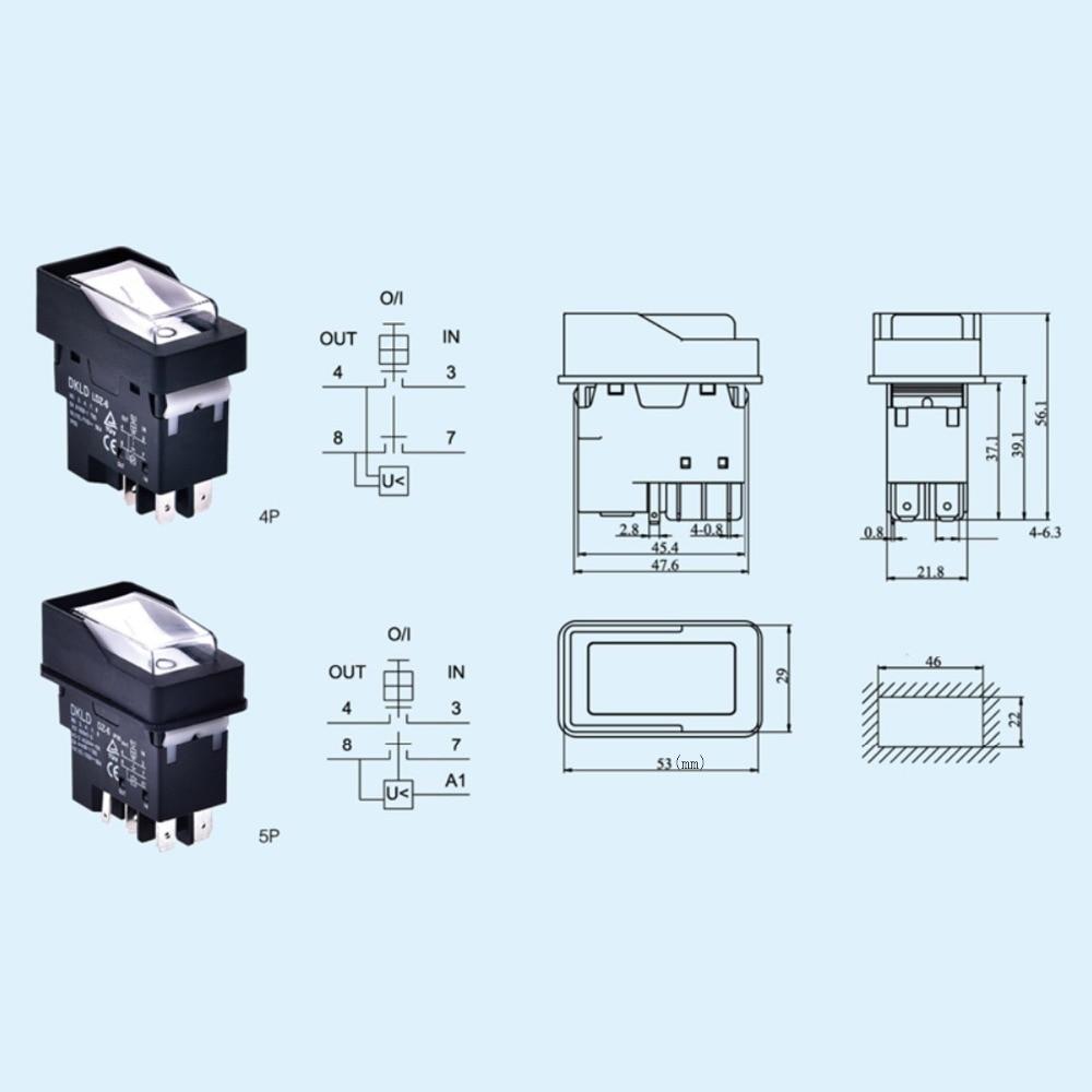 sumicorp.com DKLD DZ-6N 5Pins Elektromagnetischer Schalter mit ...