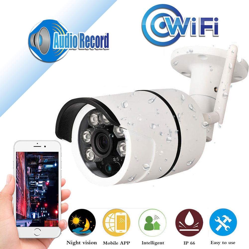 CCTV indoor Outdoor Waterproof Bullet IP Camera Wifi Wireless Surveillance Camera support TF Card  CCTV Camera Night Vision