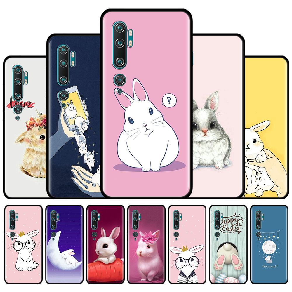 Funda de silicona para Xiaomi Mi Note 10 Lite Mi 10 Poco X3 X2 M2 F2 Pro 9T 9 A1 A2 Lite A3, carcasa con estampado de conejo favorito