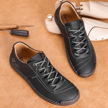 Męskie buty męskie buty na co dzień super włókno męskie buty męskie buty obuwie oddychające męskie buty oddychające buty tanie i dobre opinie ZHUISHU podstawowe CN (pochodzenie) Na wiosnę jesień Sztuczna skóra RUBBER 9330 Sznurowane Dobrze pasuje do rozmiaru wybierz swój normalny rozmiar