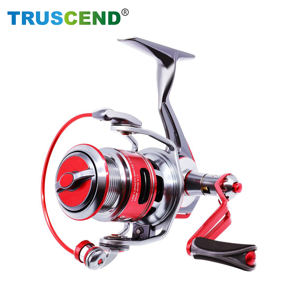 TRUSCEND 5 1 1Fishing Reel Fishing Tackle CNC Machined Full Metal Body Carbon Fiber Drag Spinning Carp Bait Casting Reel in Fishing Reels from Sports Entertainment