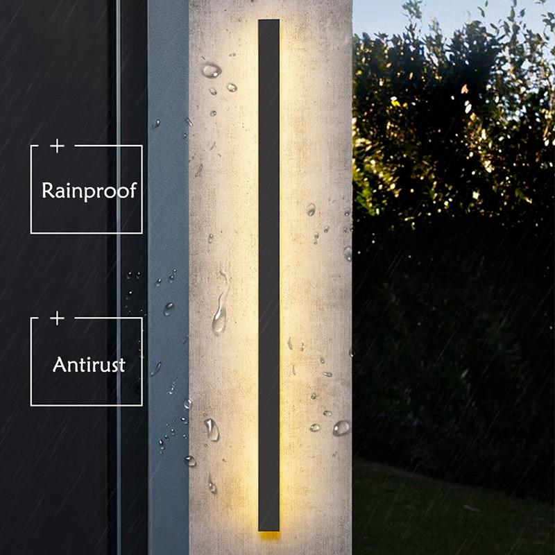 Lâmpada led de parede à prova d' água, para áreas externas, ip65, iluminação de parede, para jardim, vila, varal, lâmpada, 110v/220v luminária de arandela