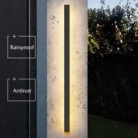 Impermeabile lampada da parete per esterni lampada da parete Lunga IP65 Leggera di Alluminio Da Giardino Villa portico del Riparo Della Luce 110V 220V sconce Apparecchio