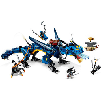 NINJA Movie Action figures Flying Stormbringer Blue Lightning Dragon compatible Model Building Blocks Bricks toy kid gift my world figures tree toy building blocks model garden bricks toy gift for kid compatible with legoinglys minecrafted