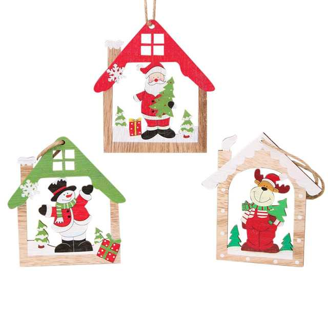 Kuulee Christmas Decorations Wooden