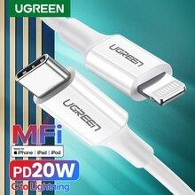 UGREEN MFi USB di Tipo C a Cavo di Fulmine per il iPhone 12 mini Pro Max PD18W 20W Veloce USB di Ricarica cavo dati per Macbook PD Cavo