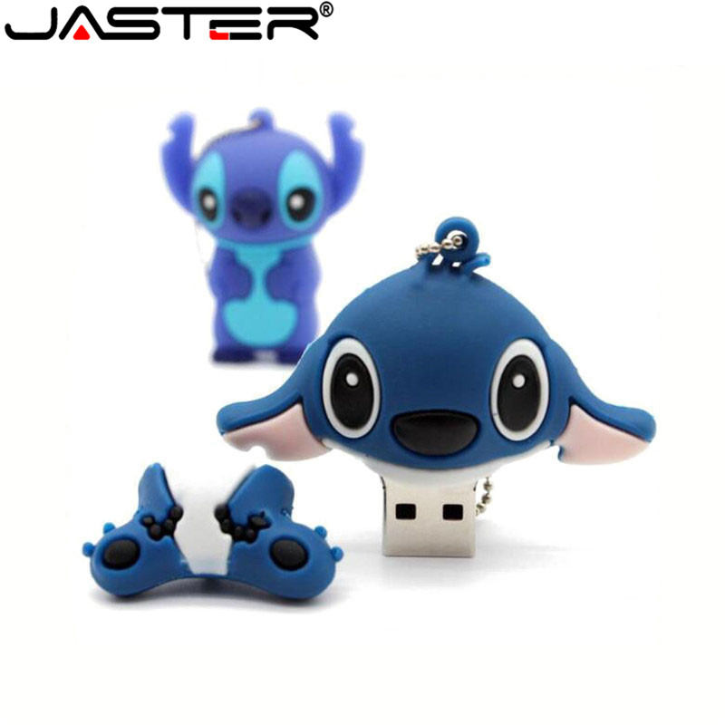 Image 2 - Lovely Cartoon Lilo & Stitch USB Flash Drives 64GB 32GB 16GB 8GB 4GB 128MB Pen Drive memory stick pendrive mini u disk gift-in USB Flash Drives from Computer & Office