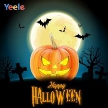 Yeele Halloween Horror Pumpkin Lantern Tombs Moon Photography Backdrops Personalized Photographic Backgrounds For Photo Studio
