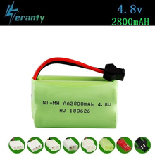 ( T Model ) 4.8v 2800mah NiMH Battery For Rc toys Cars Tanks Robots Boats Guns 4.8v Rechargeable Battery AA Battery Pack 1Pcs 2 pcs flexible pvc battery terminal covers positive negative insulation boots protector automobile for cars boats and trucks