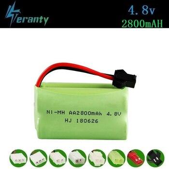 ( T Model ) 4.8v 2800mah NiMH Battery For Rc toys Cars Tanks Robots Boats Guns 4.8v Rechargeable Battery AA Battery Pack 1Pcs