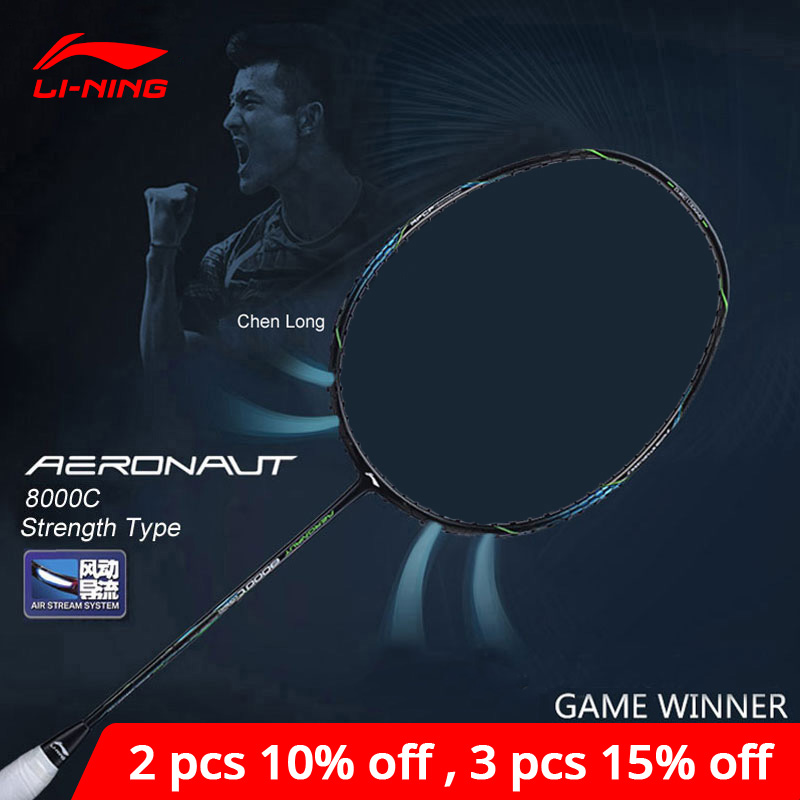 Li-Ning AERONAUT 8000C Badminton Racket Strength Type Professional High Tension Li Ning LiNing Single Racquet AYPN216 ZYF329