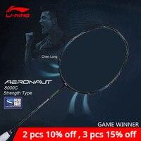 Li Ning AERONAUT 8000C Badminton Racket Strength Type Professional High Tension li ning LiNing Single Racquet AYPN216 ZYF329