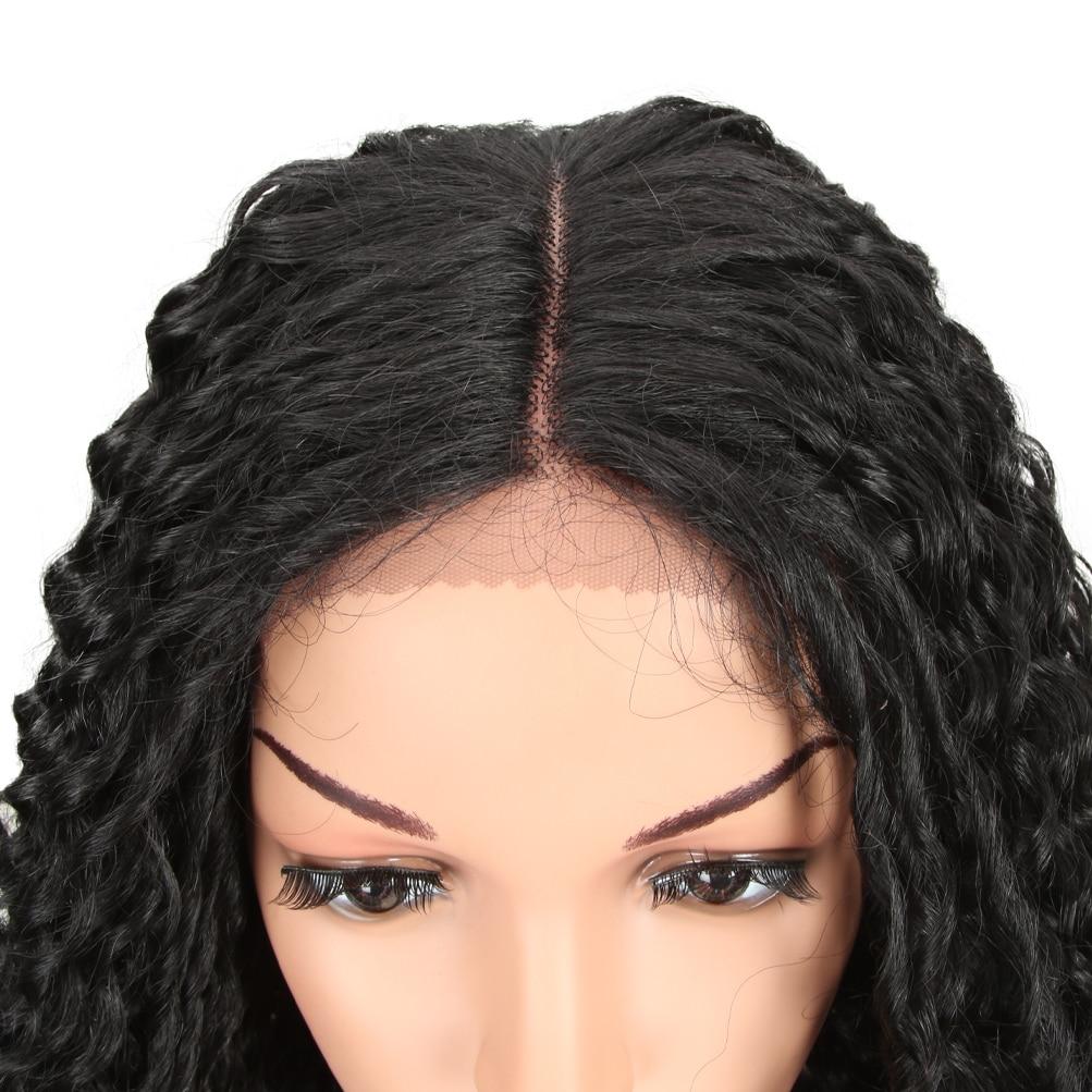 encaracolado ombre peruca loira com raízes escuras ondulado resistente ao calor