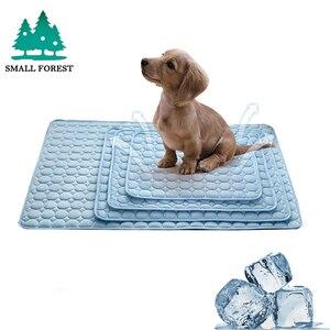 Alfombras de verano de bosque pequeño, manta de hielo para cama de mascotas, sofá, esterillas para perros y gatos, accesorios de Yoga y mascotas para acampar