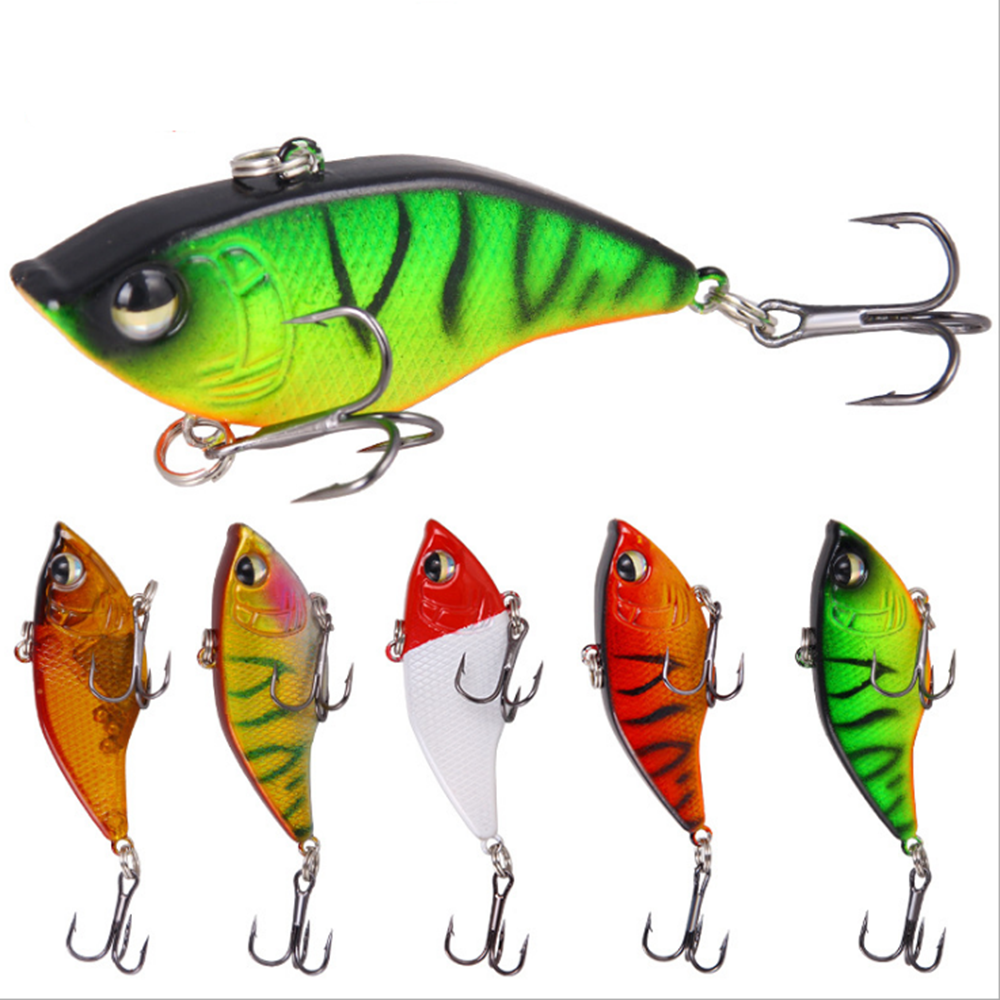 LEO1Pcs 5.5cm15g With Lead Inside Diving Swivel Jig Wing Wobbler Crankbait Pesca Artificial Bait Lead Ratlins And Vib For Winter