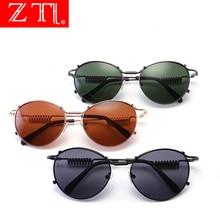 ZT Steampunk Women Cat Eye Round Sunglasses Designer Retro Mirror Reflective Sun Glasses Men Unique Design Eyewear UV400