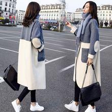 Женское шерстяное пальто осенне зимнее кашемировое женская корейская