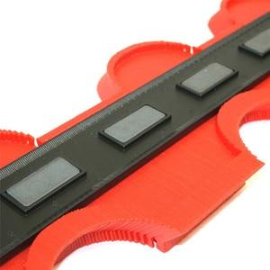 Image 2 - ASCEBDAS 10 Inch/250mm Contour Profile Gauge Tiling Laminate Tiles Edge Shaping Wood Measure Ruler