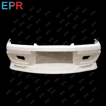 For Nissan Skyline R32 GTS Do Style Black Glossy Finished Front Bumper Exterior Body kit Car accessories