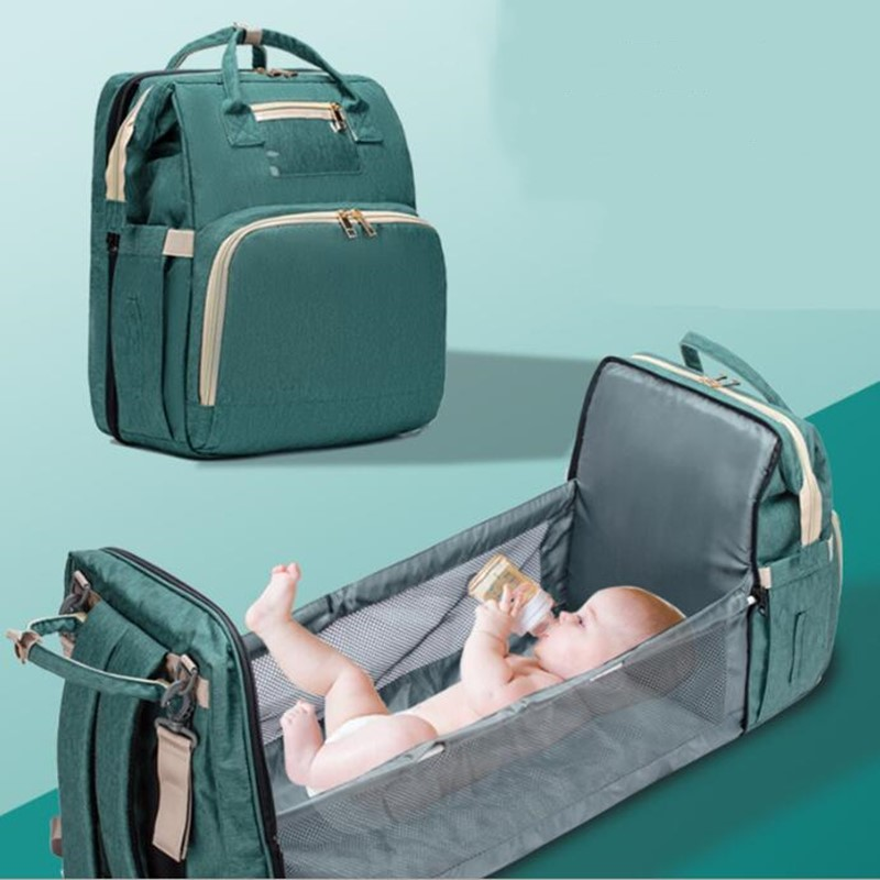 Extend Convertible Baby Diaper Bag Bed Backpack Multifunctional Foldable  Baby Travel Storage Bag Stylish Waterproof Drop Ship|Diaper Bags| -  AliExpress