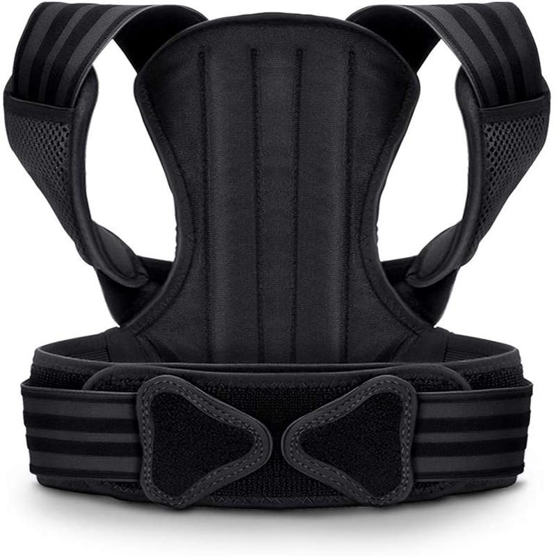 Corretor de postura para homem e mulher, coluna e suporte para as costas, proporcionando alívio da dor para o pescoço, costas, ombros, ajustável e br